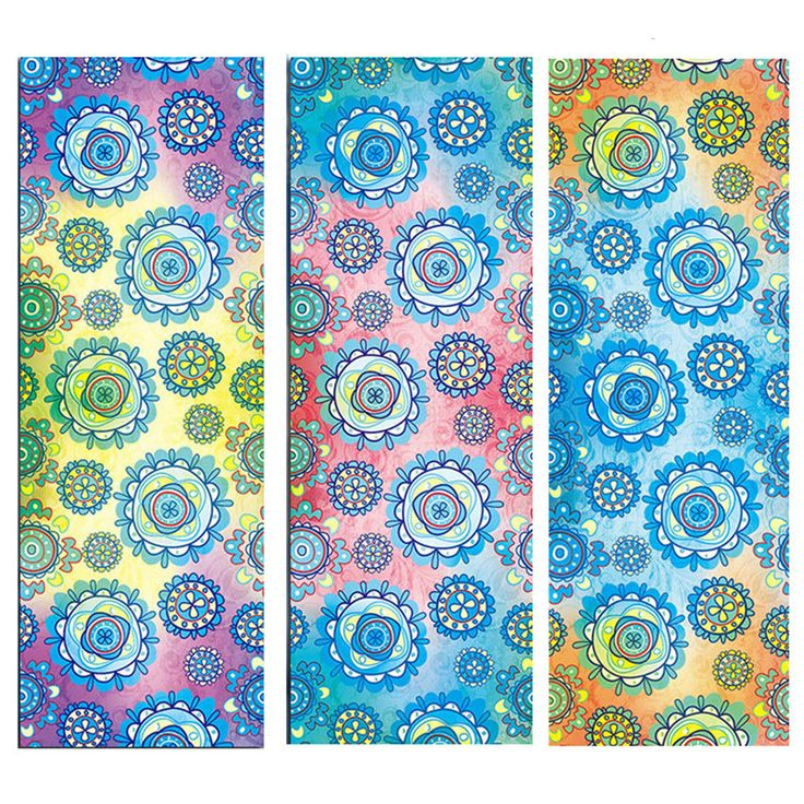 New Issue Blossoms Style Yoga Mat Towel Sport Fitness Gym Exercise Pilates Workout Portable Training Cover Blanket Soft Towel