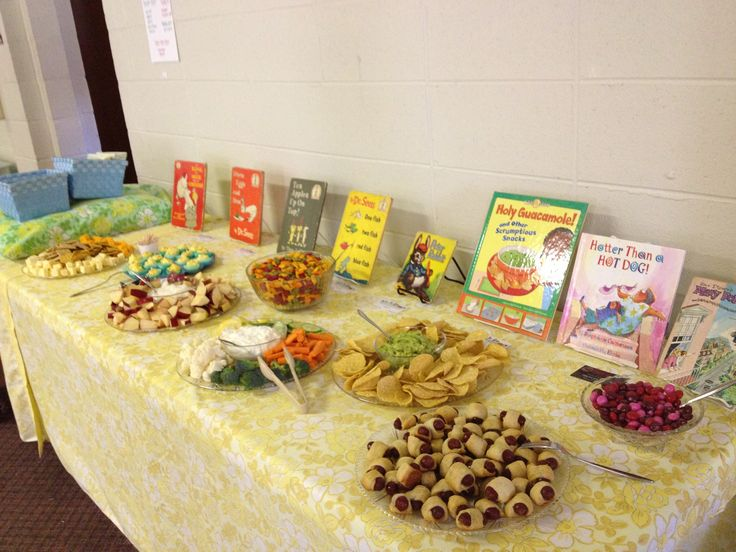 Story book themed baby shower food