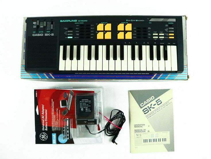 Vintage Casio SK-5 Sampling Keyboard Pulse Code Modulation Synthesizer in box #Casio