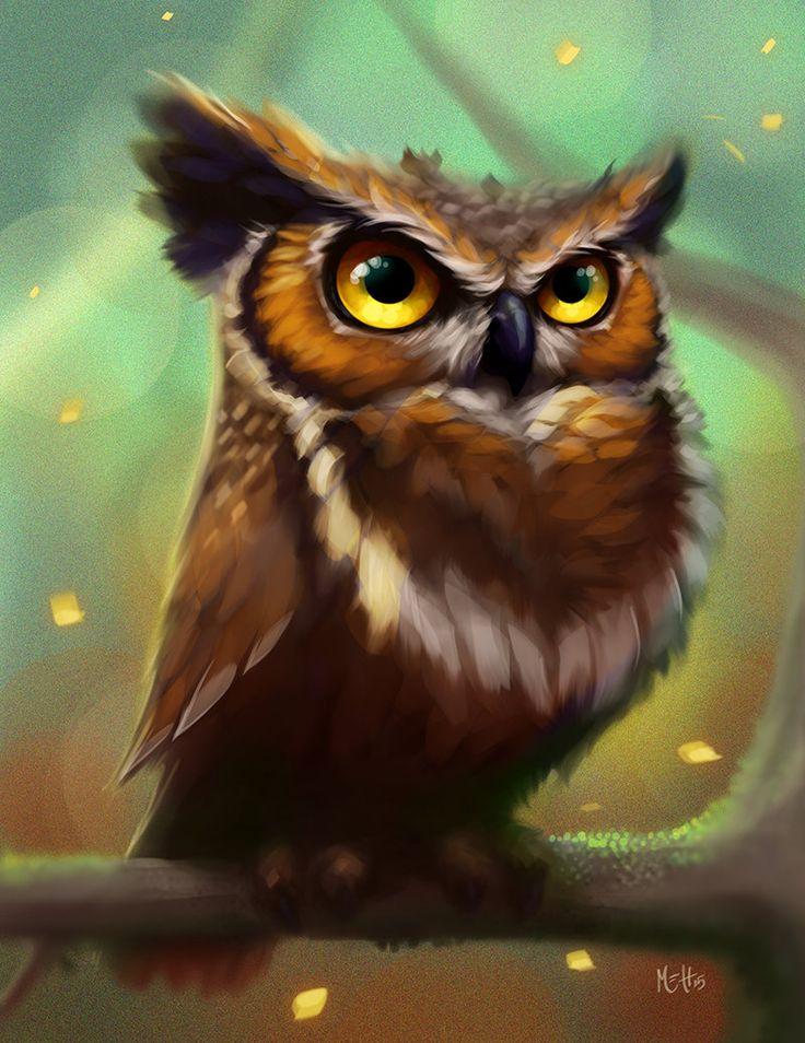 De 25 bedste id er inden for owl artwork p pinterest for Cool drawings of owls
