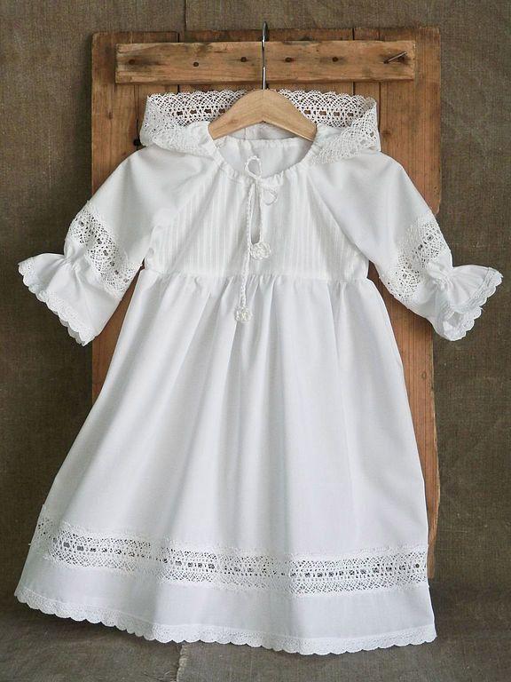 Крестильное платье для девочки (56 фото): до года, для новорожденных, 3 года, вязаное, длинное, с капюшоном