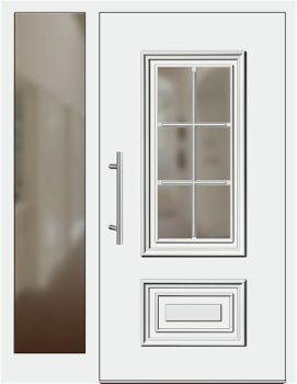Haustüren weiß mit seitenteil  Die 25+ besten Haustür mit seitenteil Ideen auf Pinterest ...