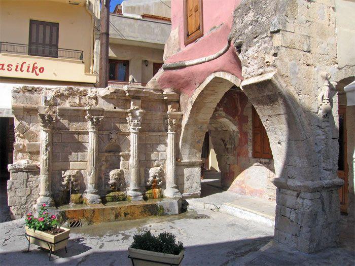 Rethymno, Crete - Rimondi fountain (built in 1626 by the Venetian Rector (Governor) of Rethymnon A. Rimondi.)
