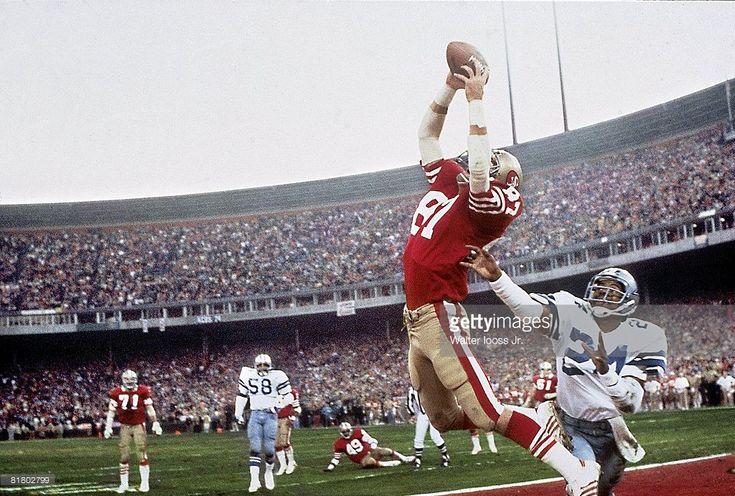 News Photo : NFC Playoffs, San Francisco 49ers Dwight Clark in...