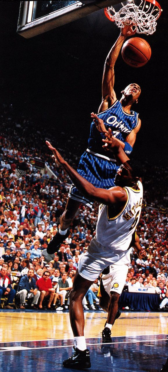 "Penny Hardaway was selected by the Golden State Warriors in the first round of the 1993 NBA Draft (third pick overall), but was traded along with three future first-round picks to the Orlando Magic for the rights to first overall pick Chris Webber. Plagued by knee injuries, Penny was heralded as a mix between MJ and Magic. At 6""8 he was an excellent passer, scorer, defender and rebounder that helped the Magic with Shaq reach the finals in '95."