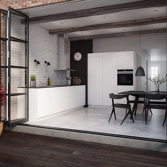 Followers September 1st we launch our new innovative kitchen concept - Senti. Large unbroken surfaces in matt or gloss. Panels all the way to the floor completes an unrivalled furniture look. And drawers and doors operated simply by a sway from the hip no handles, no millings, no hassle #sentibykvik #kvik #kitchen #pushopen #innovation #thefuture #enjoyablekitchen #senti #interiorlove #furniturelook #september1st #kitchennews #coolkitchen