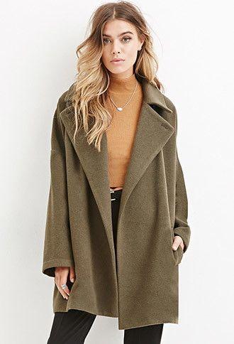 Longline Wool-Blend Coat | Forever 21