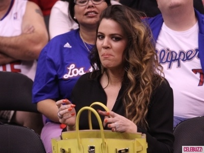 Photos - Khloe Kardashian and Kendall Kenner Attend LA Clippers Game - 1 - Celebuzz