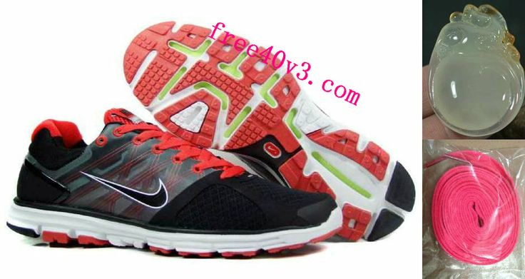 Mens Nike Lunarglide 2 Black Red Shoes    #Red  #Womens #Sneakers