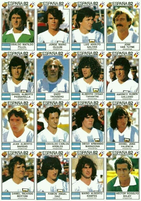 Argentina stickers for the 1982 World Cup Finals.