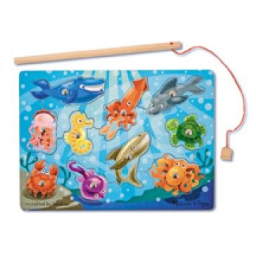 Melissa & Doug Magnetic Wooden Fishing Game - Art & Magentic Play - Products