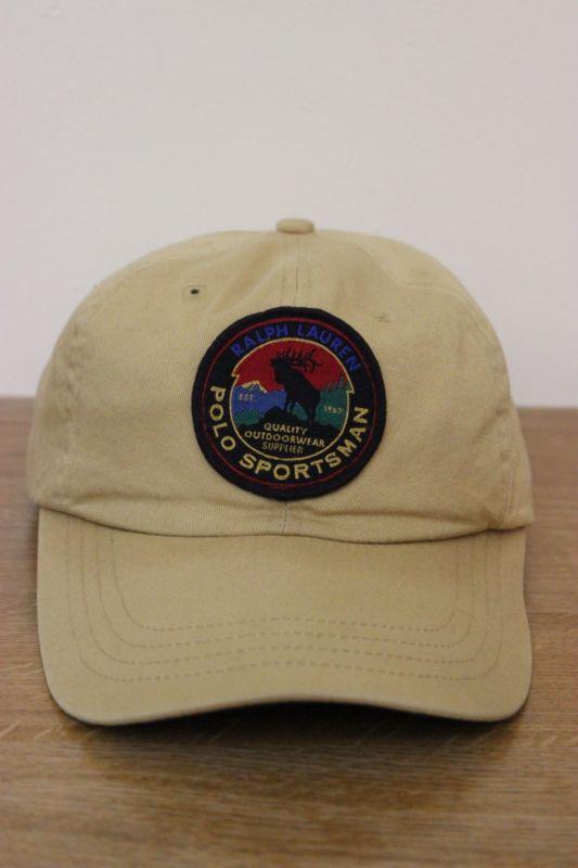 Vintage 90s Polo Sport Ralph Lauren Sportsman Wildlife Cookie Patch Hat snow 92