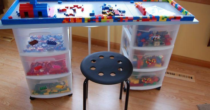 Mueble para organizar las piezas de LEGO