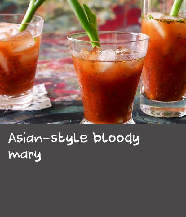 Asian-style bloody mary | Dip the rim of your cocktail glasses in the Japanese spice blend, schichimi togarashi, that typically includes coarsely ground red chili pepper, ground sanshō, roasted orange peel, black and white sesame seeds, hemp seed, ground ginger and nori.