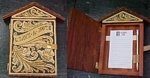 Note Pad Cabinet Handcrafted by WC of Leather by WC