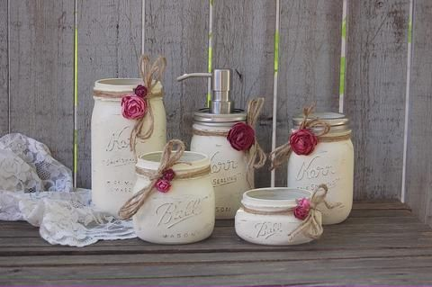 Mason jar soap pump set