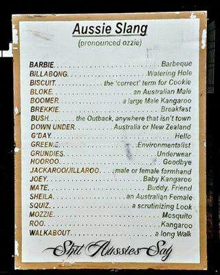 Australian Slang (ignore the indiscretion below)
