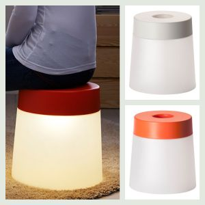 skammel fra Ikea med lys. Få ideer til hvad du kan bruge den til ved at gå ind på frubruun.dk