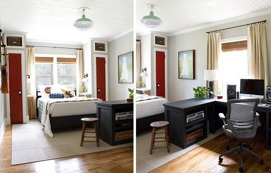 Guest Room Inspiration: Room Inspiration: Shared Office & Guest Rooms
