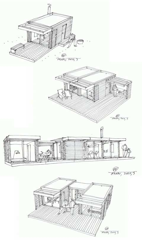 This small prefab is tiny, only 15 sq. meters. It's built of high quality solid Scandinavian material and can be delivered by truck to your site, ready to use. It can be used as a vacation home, guest room, office, studio, teenage accommodation or as an existing house extension. The concept behind the Mini House …