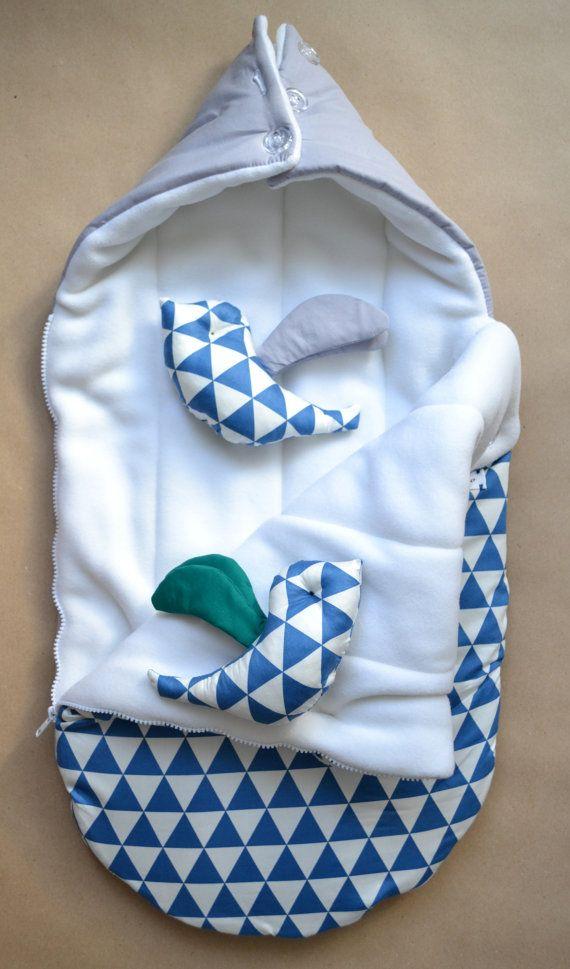 Sleeping bag for newborn Swaddle Wrap for door OrigamicoWorkshop