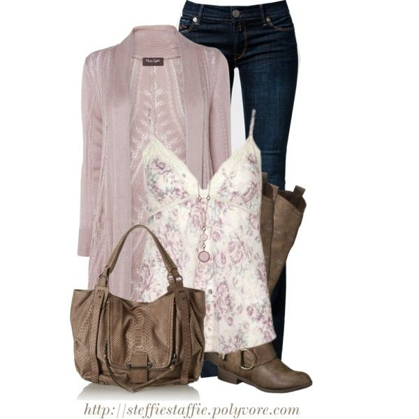 """Dusty Pink Florals"" by steffiestaffie on Polyvore"