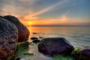 Evening coast - HDR