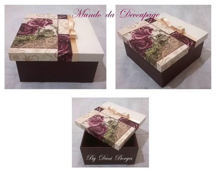 Caixa Oca Rosas Vintage