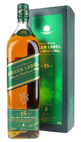 Johnny Walker Green label whiskey