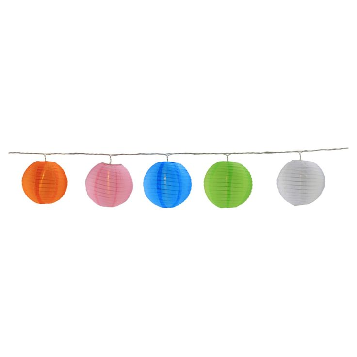 Northlight LED Multi-Color Chinese Lantern Patio and Garden Novelty Lights - Set of 5 - 32208257