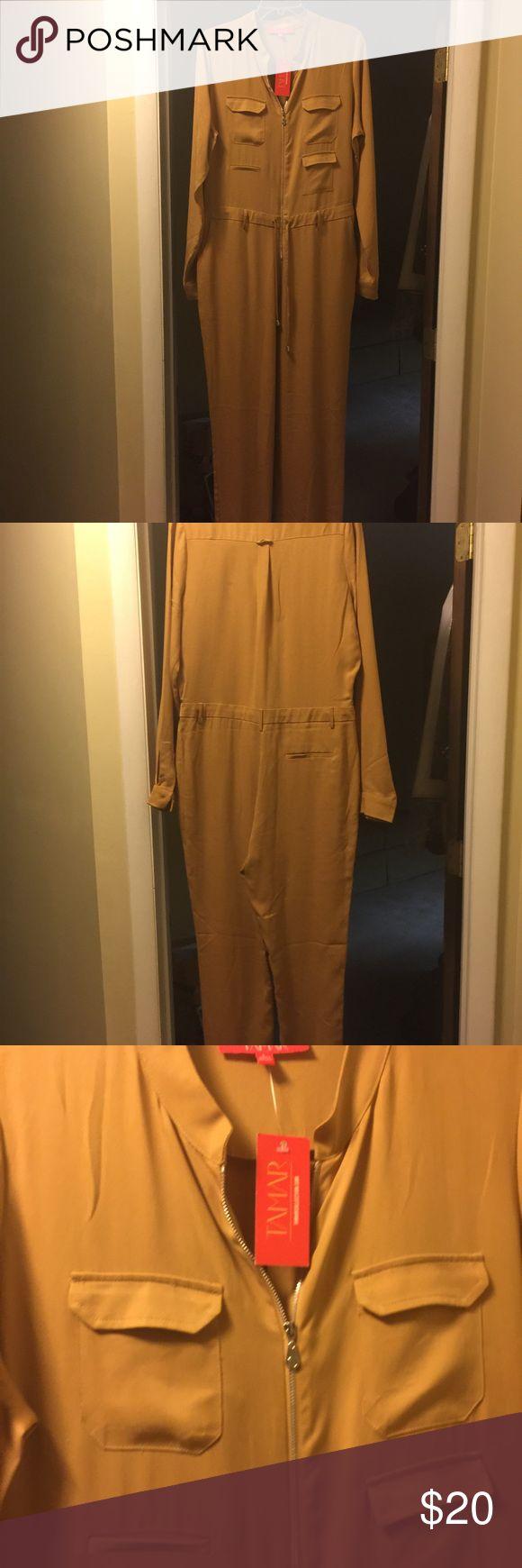 Tamar Braxton gold jumpsuit NWT Gold NWT, Tamar Braxton,large Tamar Braxton Pants Jumpsuits & Rompers
