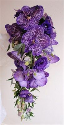 Vanda Orchid Waterfall Bouquet - Blooming Occasions