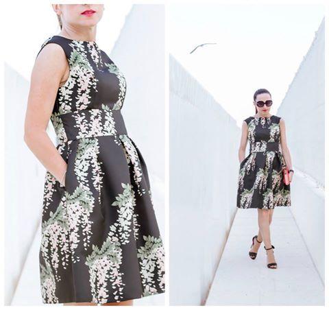 La fashion blogger Nicky indossa abito Darling London f/w16