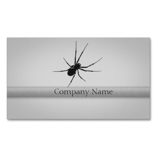 The Spider's Silhouette Business Card