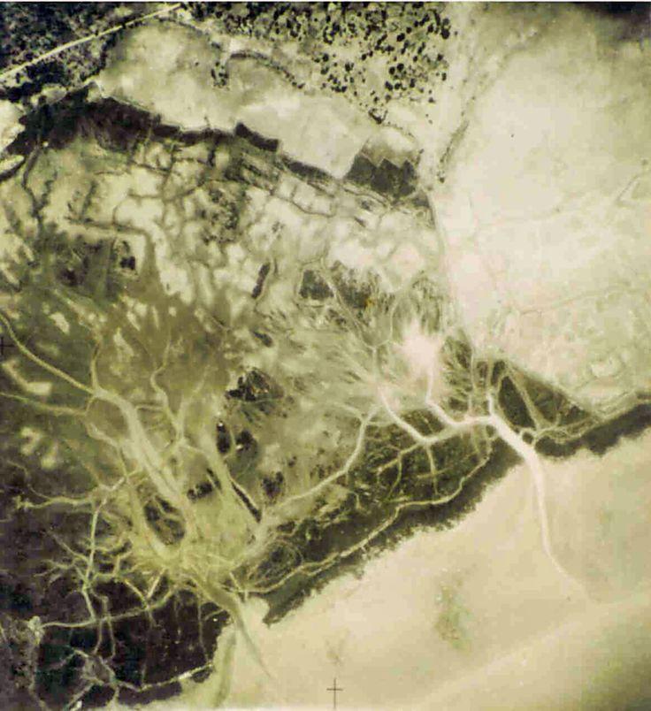 """Ondame, airial photo, 1949 - Centro de Geografia do Ultramar, Fotografia Aérea, Provincia da Guiné, Zona """"C"""", Fichada no. 41, No. 872, Altura de voo: 2.540m, Escala 1:20.000, Ano, Avril 1949.  © D. Kohnert"""