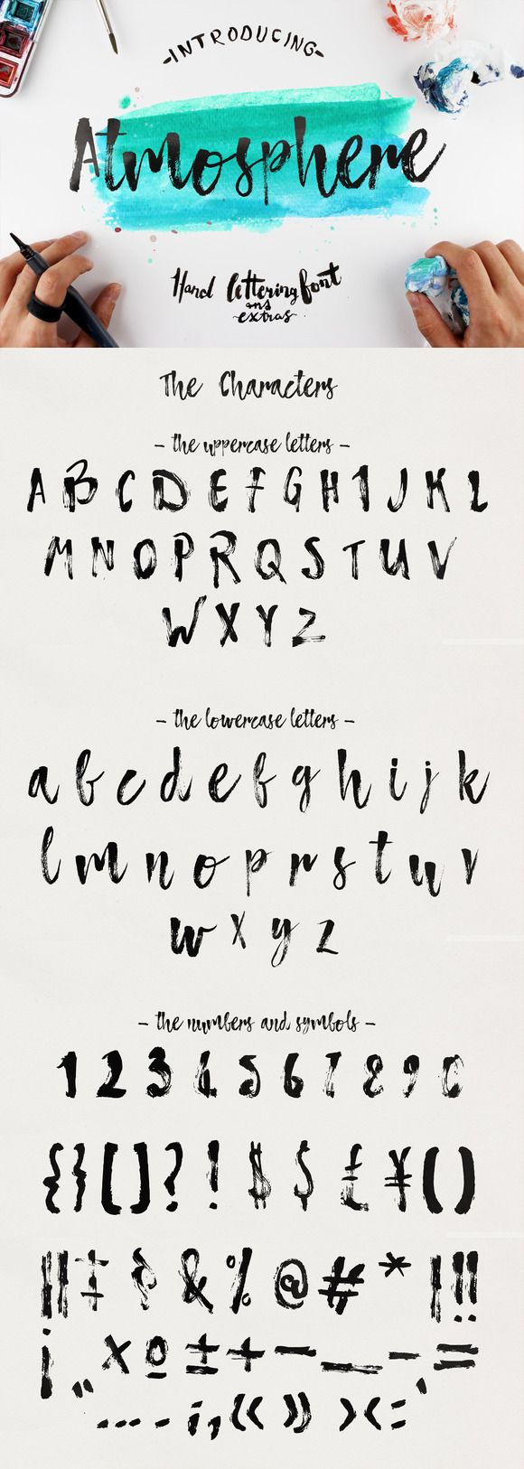 Atmosphere Script Typface by Yasir Ekinci. Handpainted modern calligraphy font.
