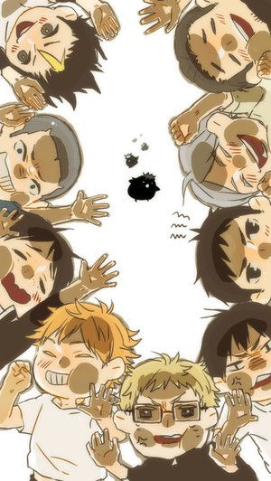 Haikyuu!! trapped inside the glass.