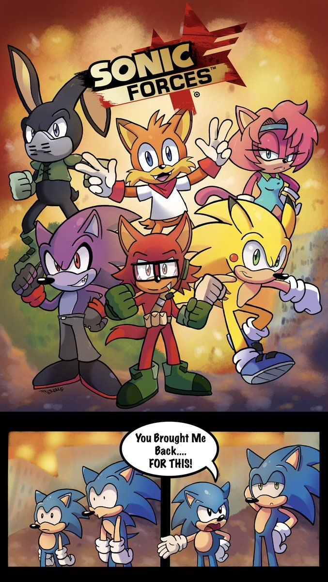 Infinite X Gadget Sonic Forces Comics
