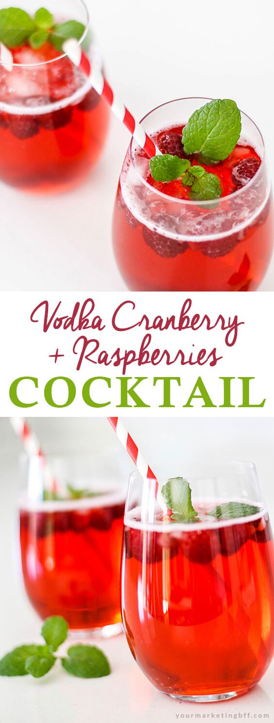 Easy Vodka Cranberry Raspberry Cocktail - yourmarketingbff.com