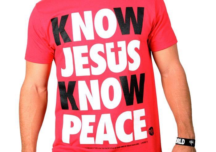 know jesus know peace christian tee shirt christian tee