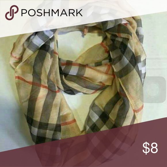 PLAID INFINITY SCARF Plaid fashion infinity scarf New in sealed package Accessories Scarves & Wraps