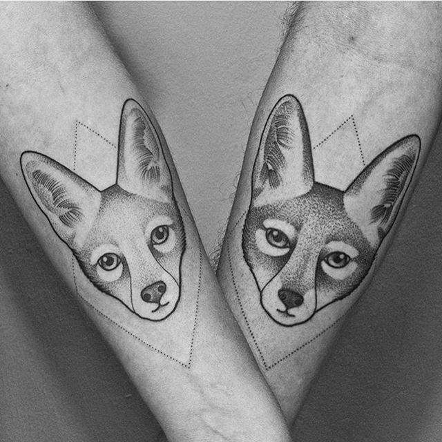 Beautiful Blackwork Fox Tattoos By Johannafeth From Mannheim Germany Einfach