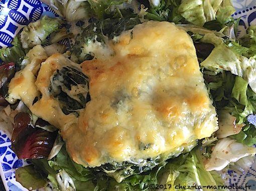 Gratin de ravioles aux épinards et au comté – Marmotte cuisine !