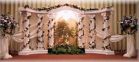 Roman Pillar Waterfall Backdrop Wedding Decorations