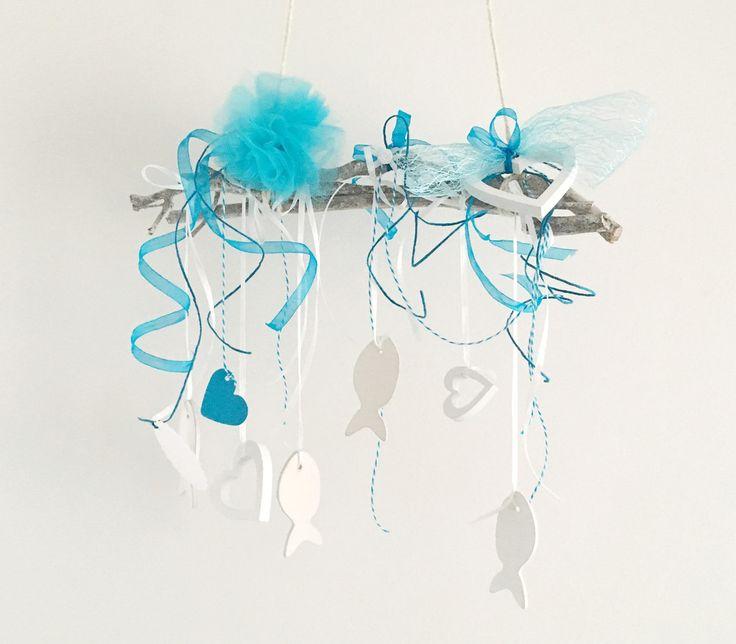 Dekoration - Kommunion Deko Weiß Türkis Blau - ein Designerstück von iLike_wuuschl bei DaWanda