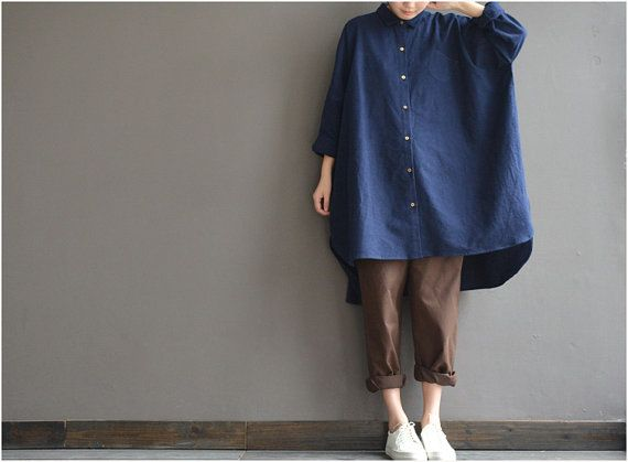 Ultra-loose the big shirt two color cotton boyfriend by complus