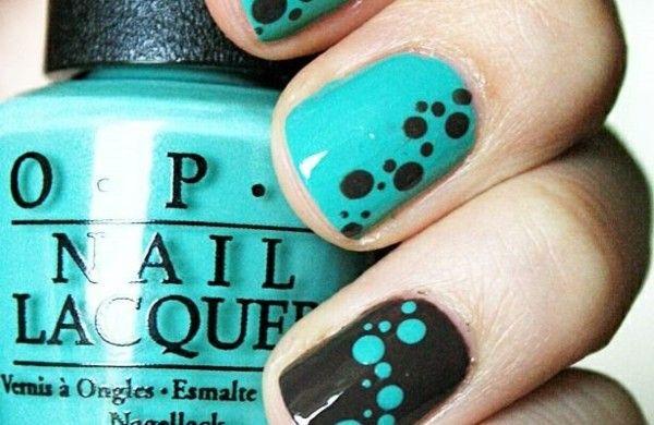 richtig nägel lackieren muster pünktchen nagellack design