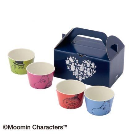 BE67 ミニカップ4個セット(ボックス入り)/ムーミン・コレクション