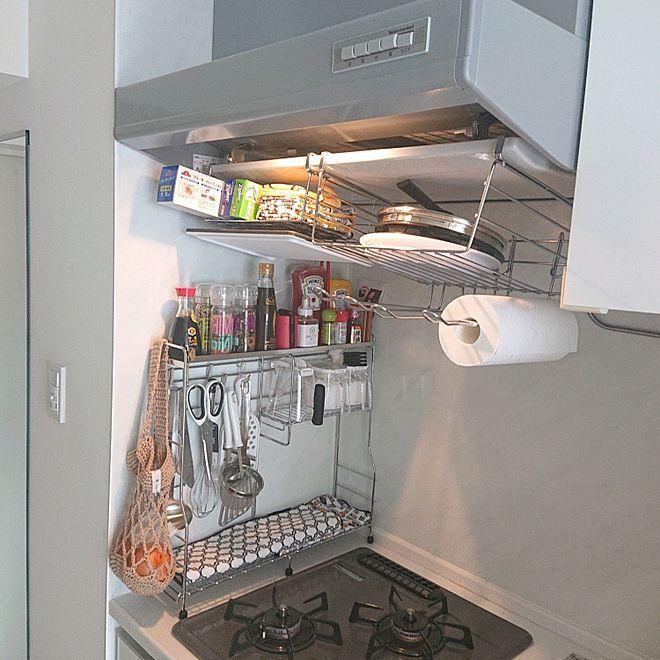 ニトリ キッチン収納 収納 収納アイデア 吊り戸棚 などのインテリア
