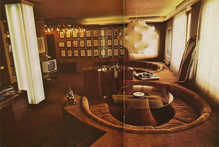 1970s 1970s 1970s! Apartment designed by Mario Scheichenbauer. Scanned from One Room Interiors by Franco Magnani, 1979.
